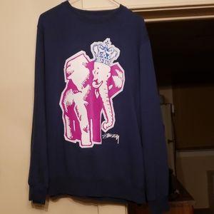 Stussy Sweaters - Stussy Elepant Crown Crew Vintage 90s